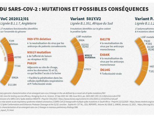 Données récentes sur les variants du SARS-CoV-2